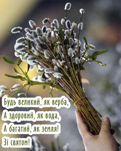 Картинки з Вербною неділею українською мовою